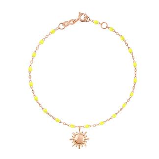 Bracelet jaune et or avec soleil
