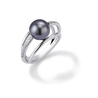 Photo produit bague 3 anneaux et perles