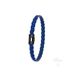 Bracelet tribord bleu tressé