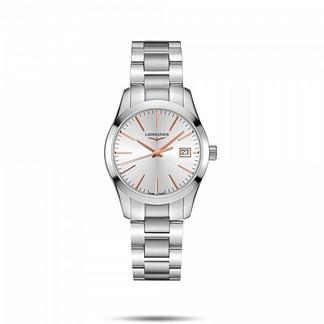 Longines Conquest Classic blanc bracelet argenté