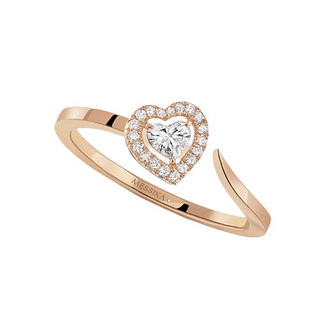 Bague Joy Diamant Coeur or rose