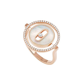Bague Lucky Move PM nacre blanche