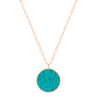 Collier Jumbo Ever Turquoise Disc
