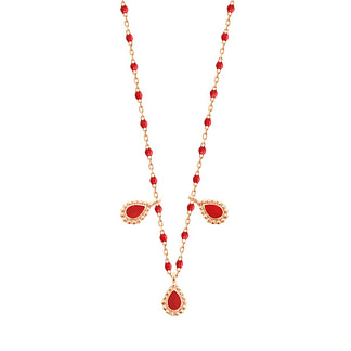 Collier Lucky Cashmere rouge