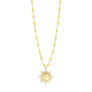 Collier Soleil jaune