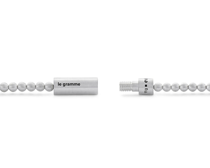 Bracelet de perles en or blanc