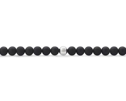 Bracelet le gramme perles noires et argent