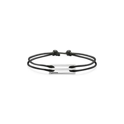 Bracelet cordon noir perforé le 2.5g